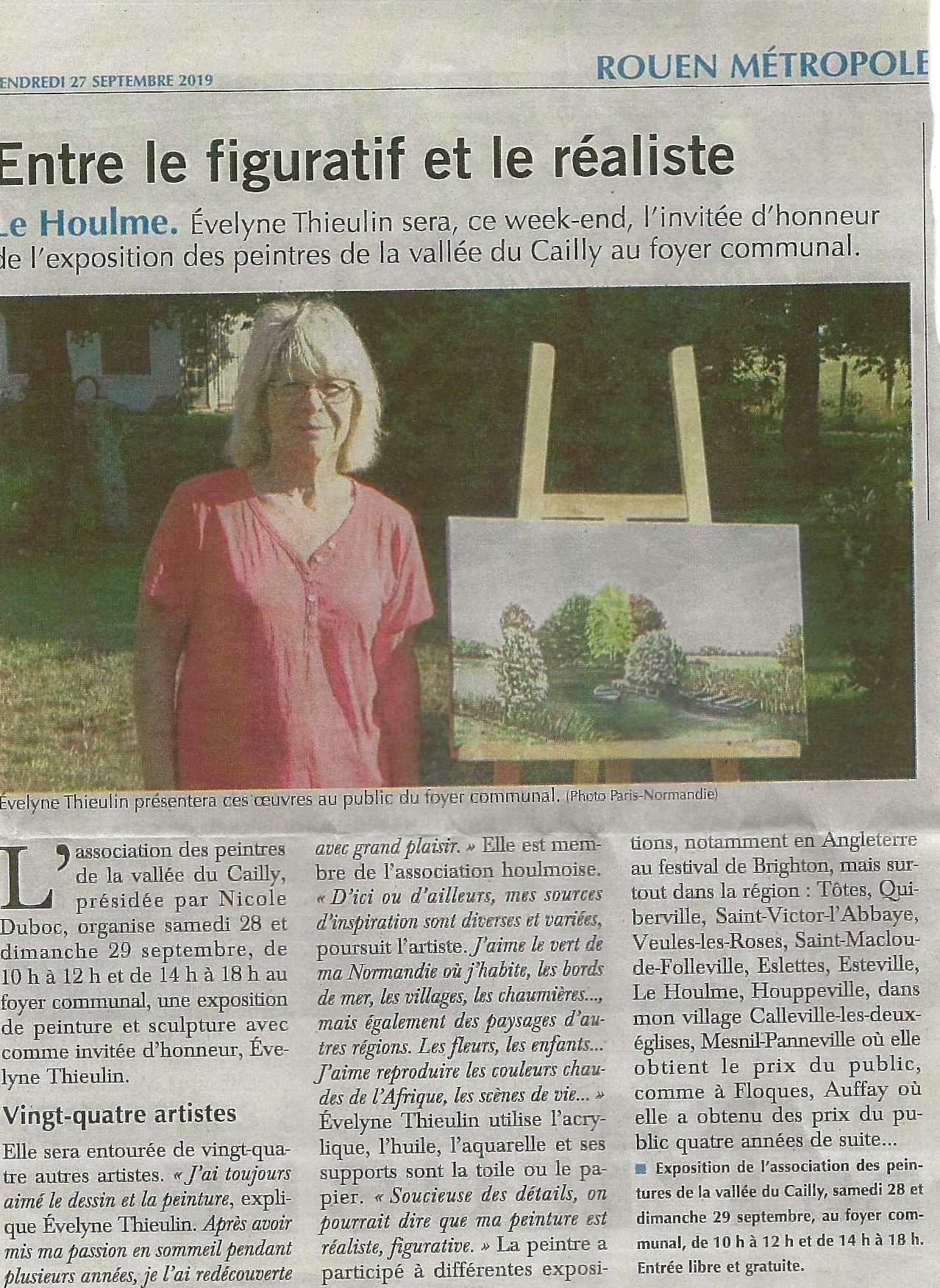 Le Houlme 2019 : article Paris Normandie